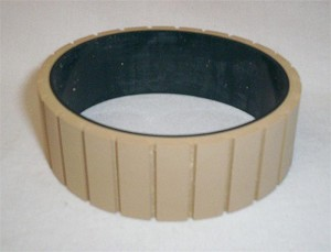 "Belt, Feed, Tan Gum Grooved  Composite  1""W"