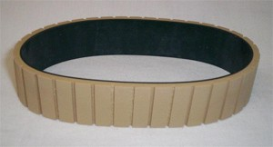 "Belt, Feed, Tan Gum Grooved  Composite  1""W   (Long Length)"