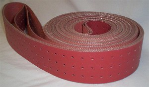 "Inkjet Base Transport Belt, Hi-Temp Red,  2"" W  x  209.5"" L"